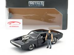 Dom's Dodge Charger R/T 1970 film Fast & Furious (2001) con cifra 1:24 Jada Toys