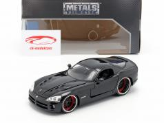 Letty's Dodge Viper SRT 10 电影 Fast and Furious 7 (2015) 黑 1:24 Jada Toys