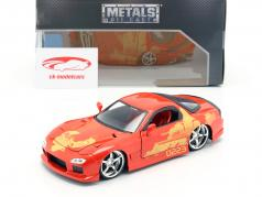 Orange Julius' Mazda RX-7 1995 filme 2 Fast 2 Furious (2003) 1:24 Jada Toys