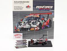 Iron Force Calendário do Advento: Porsche 911 (991) GT3 R #69 Iron Force 1:43 CMR