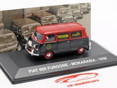 Fiat 600 van Mokarabia ano de construção 1958 vermelho / preto 1:43 Altaya