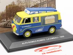 Alfa Romeo van La Cimbali ano de construção 1955 amarelo / azul 1:43 Altaya