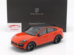 Porsche Cayenne S Coupe année de construction 2019 lava orange 1:18 Norev