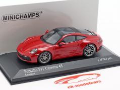 Porsche 911 (992) Carrera 4S Baujahr 2019 karmin rot 1:43 Minichamps