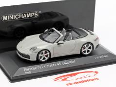 Porsche 911 (992) Carrera 4S Cabriolet Baujahr 2019 kreide grau 1:43 Minichamps