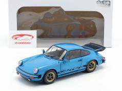 Porsche 911 (930) 3.0 Coupe year 1984 minerva blue 1:18 Solido