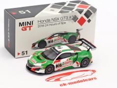 Honda NSX GT3 #30 24h Spa 2018 Castrol Honda Racing 1:64 True Scale