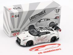LB Works Nissan GT-R (R35) tipo 1 LHD branco 1:64 True Scale