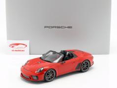 Porsche 911 (991 II) Speedster Concept 2019 guardas vermelho com mostruário 1:18 Spark