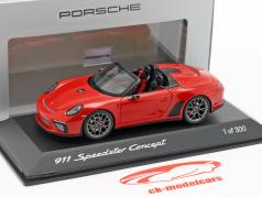 Porsche 911 (991 II) Speedster Concept 2019 guards red 1:43 Spark