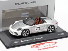 Porsche 911 (991 II) Speedster Concept #70 Heritage Edition silver 1:43 Spark