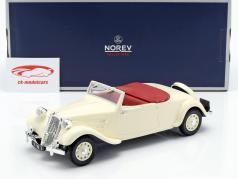 Citroen Traction Avant Cabriolet 11B Bouwjaar 1939 crème wit 1:18 Norev