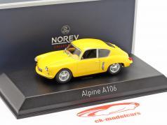 Alpine Renault A106 建造年份 1956 黄 1:43 Norev