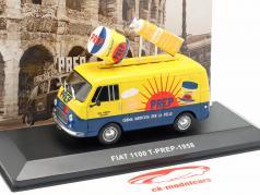 Fiat 1100 T Lieferwagen PREP gelb / blau 1:43 Altaya