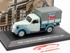 Fiat 1100 ELR Camioncino Pick-Up Yoga hellblau / dunkelblau 1:43 Altaya
