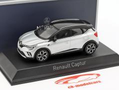 Renault Captur Baujahr 2020 silber metallic / schwarz 1:43 Norev