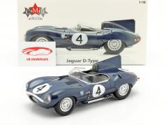 Jaguar D-Type #4 gagnant 24h LeMans 1956 Sanderson, Flockhart 1:18 CMR