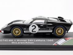 Ford GT40 MK II #2 胜利者 24h LeMans 1966 McLaren, Amon 1:43 CMR