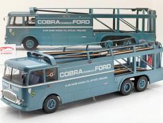 Fiat Bartoletti 306/2 Shelby Cobra løb transportør Alan Mann Racing Ltd 1:18 Norev