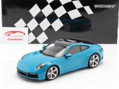 Porsche 911 (992) Carrera 4S Baujahr 2019 miami blau 1:18 Minichamps