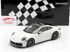 Porsche 911 (992) Carrera 4S year 2019 white 1:18 Minichamps