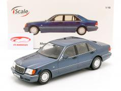 Mercedes-Benz S500 (W140) 建造年份 1994-98 azurit 蓝 / 灰色 1:18 iScale