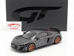 Audi R8 V10 Decennium ano de construção 2018 cinza metálico 1:18 GT-Spirit
