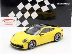 Porsche 911 (992) 4S Baujahr 2019 gelb 1:18 Minichamps