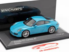 Porsche 911 (991 II) Carrera 4S year 2016 miami blue 1:43 Minichamps