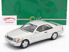 Mercedes-Benz 600 SEC (C140) ano de construção 1992 prata 1:18 Cult Scale
