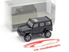 Brabus 4x4² based on Mercedes-Benz G500 4x4² year 2016 black 1:87 Minichamps