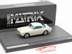 Cisitalia 33DF Voloradente Coupe 1954 wit / lichtblauw 1:43 Matrix