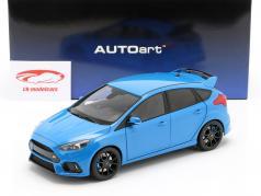 Ford Focus RS ano de construção 2016 nitrous azul 1:18 AUTOart