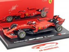 Sebastian Vettel Ferrari SF90 #5 澳大利亚 GP F1 2019 同 橱窗 1:43 Bburago