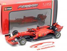 Charles Leclerc Ferrari SF90 #16 australiano GP F1 2019 en ampolla 1:43 Bburago