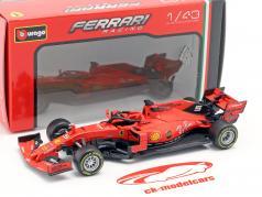 Sebastian Vettel Ferrari SF90 #5 australiano GP F1 2019 in bolla 1:43 Bburago