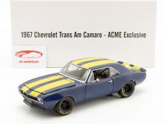Chevrolet Trans Am Camaro 1967 azul / amarelo 1:18 GMP