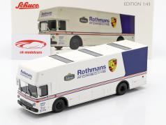 Mercedes-Benz O 317 løb lastbil Rothmans Porsche hvid / blå 1:43 Schuco