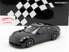 Porsche 911 (992) Carrera 4S ano de construção 2019 azul escuro metálico 1:18 Minichamps