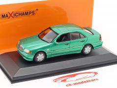 Mercedes-Benz C-classe (W202) ano de construção 1997 verde metálico 1:43 Minichamps