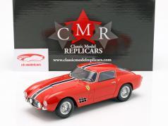 Ferrari 250 GT LWB Bouwjaar 1957 rood met blauw-wit streep 1:18 CMR