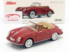 Porsche 356A Carrera cabriolet rubis rouge 1:18 Schuco