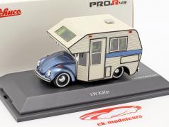 Volkswagen VW 甲虫 Motorhome 蓝 金属的 / 白 1:43 Schuco