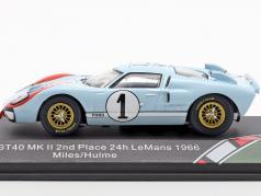 Ford GT40 MK II #1 第2 24h LeMans 1966 Miles, Hulme 1:43 CMR