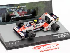 Ayrton Senna Toleman TG183B #19 Brésil GP formule 1 1984 1:43 Altaya