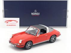 Porsche 911 T Targa ano de construção 1971 vermelho 1:18 Norev