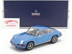 Porsche 911 S Coupe ano de construção 1973 azul metálico 1:18 Norev
