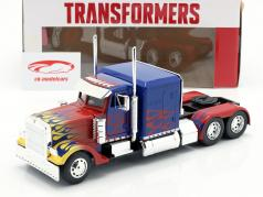 Western Star Transformers T1 Optimus Prime azul com chamas 1:24 Jada Toys