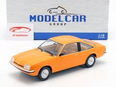 Opel Manta B ano de construção 1975 laranja 1:18 Model Car Group