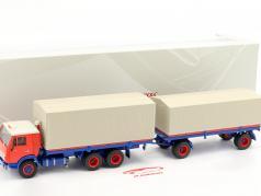 Kamaz 5320 caminhão com trailer GBK 8350 azul / laranja 1:43 Premium ClassiXXs